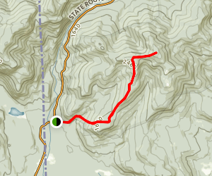 Blueberry Ridge Trail to Speckled Mountain Map