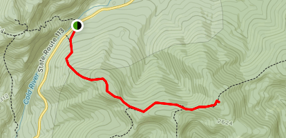 Spruce Hill Trail to Speckled Mountain Map
