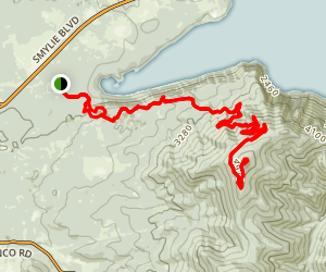 Scout Trail to Bernard Peak Map