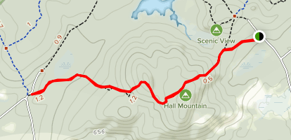 Hall Mountain Trail Map