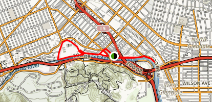 Glendale Narrows Riverwalk Map