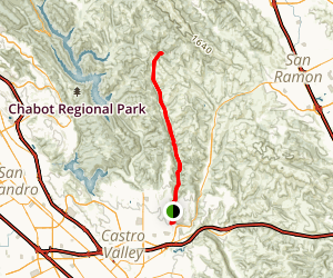 Cull Canyon Bike Route Map