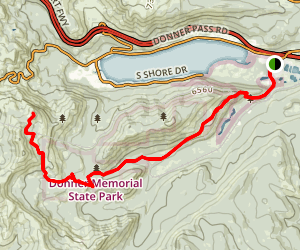 Old Emigrant Trail to Donner Peak Map