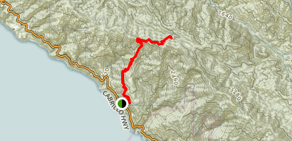 De Angulo Trail to Partington Ridge Map