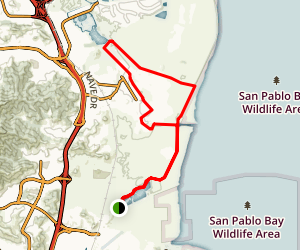 San Francisco Bay Trail and Hamilton Field Path Loop Map