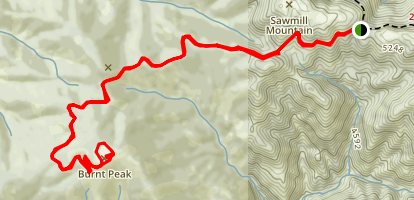 Burnt Peak Trail Map