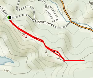 Oak Knoll and Quail's Roost Trail Map