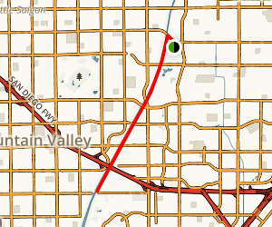 Santa Ana River Trail: Santa Ana to Fountain Valley Map