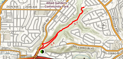 Adobe Falls Road Loop [PRIVATE PROPERTY] Map