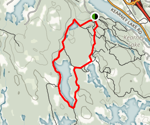 Hobson's Lake Trail and Ash Lake Loop Map