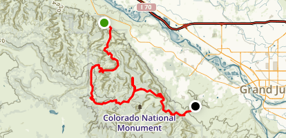 Monument Mesa and Liberty Gap Trail Map