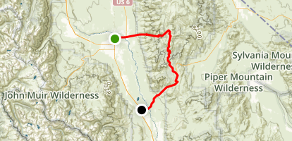 Inyo National Forest Scenic Drive: Bishop to Big Pine Map