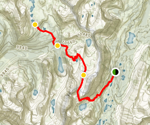 Pioneer Basin Lakes Trail Map