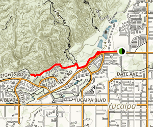 Oak Glen Road Trail Map