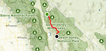 Saline Valley Road Drive Map