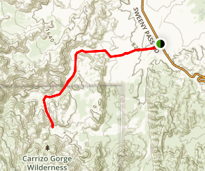 Bow Willow Canyon Trail Map