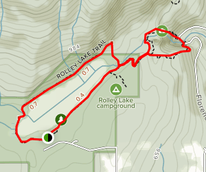 Rolley Falls and Lake Trail Map