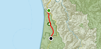 Redwood National Park Coastal Drive Map