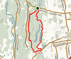 Killkenny Rock and Metacomet Reservoir Loop Map