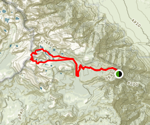 Little Cottonwood Creek To New Army Pass  Map