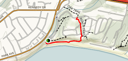 New Brighton Beach Trail Map