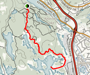 Quarry Lake and Birch Cove Lakes Trail Map