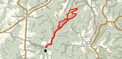 Jacobs Ladder and Christmas Rocks Trail Map