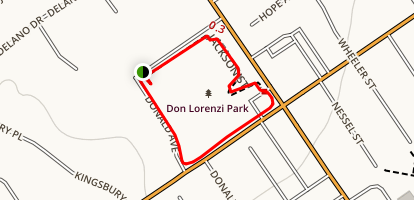 Don Lorenzi Park Loop Map