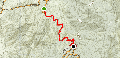 Capinero Saddle Trail Map