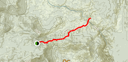 Lewis Camp Trail to the Little Kern River Map
