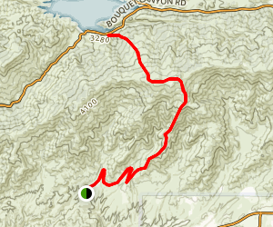 Rowher Trail to Bouquet Reservoir Map