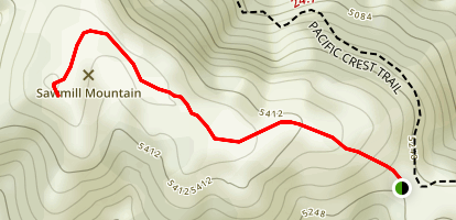Sawmill Mountain Trail Map