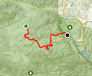Lockwood / Miller Jeep Trail Map