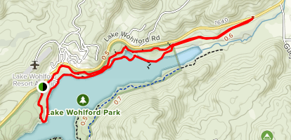 Lake Wohlford: South Trails Map