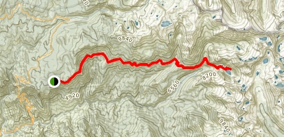 High Sierra Trail to Hamilton Lakes Map