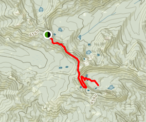 Seven Lakes Basin via the PCT Map