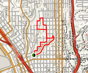Banker's Hill Historic Walk Trail Map
