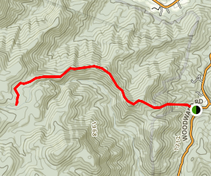 White Rocks Trail Map