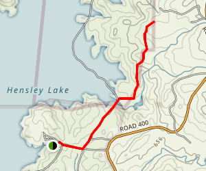 Hensley Lake Day Use Areas Trail Map