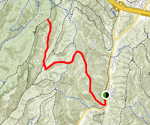 Big Bend Trail to Old Emerald Falls Trail Map