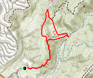 Mach One and Poles Loop Trail Map
