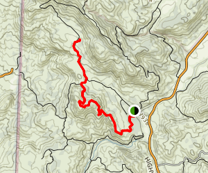 Pine Ridge Trail to Primitive Camp Map