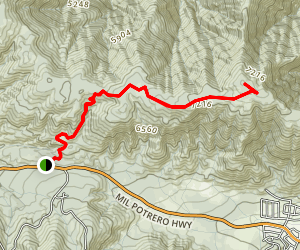 San Emigdio Mountain Trail Map
