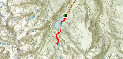 Lake Sabrina to Blue Lake Trail Map
