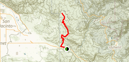 Bee Canyon Truck Trail Map