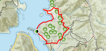 Marina and Rocky Point Trails Map