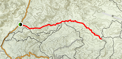 Willow Creek Jeep Trail Map