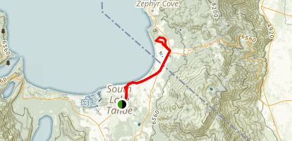 South Lake Tahoe Bike Trail Map