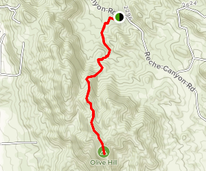 Olive Hill via Reche Canyon Map