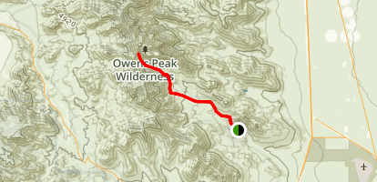Owens Peak Trail Map